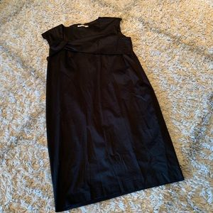 Jil Sander sleeveless black dress size 42